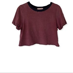 Truly Madly Deeply Striped Cropped Shirt